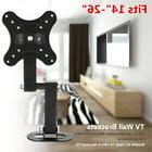 Full Motion Tilt Swivel Monitor TV Wall Mount Bracket for 14