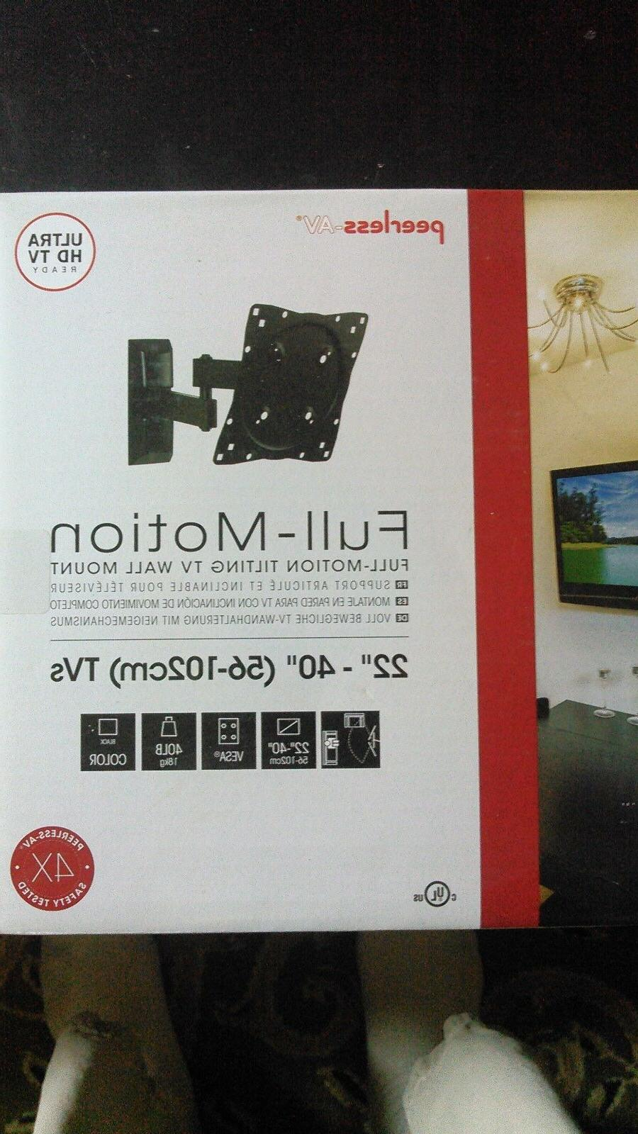 "Full motion tilting TV wall mount, Peerless-AV,  22""-40"""