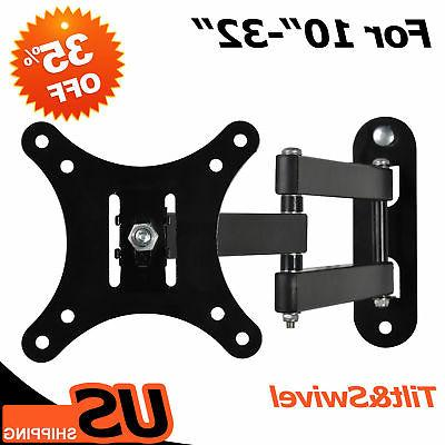 Full Motion TV Wall Mount Tilt Swivel LED LCD 14 17 19 20 22