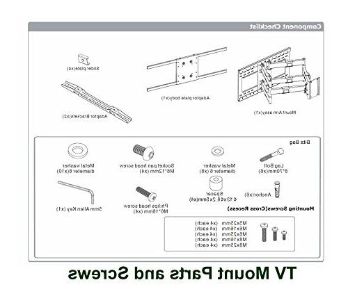 """Heavy Duty Articulating Wall Samsung LG 65"""" 70"""" 82"""" with 16"""" 24"""" support"""