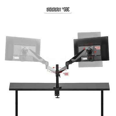 LCD Desk TV Bracket Stand Adjustable Arm to
