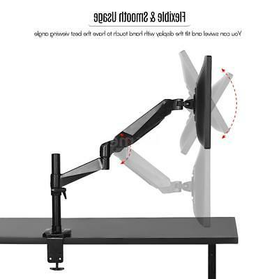 LCD Tilt Monitor Mount Desk TV Bracket Adjustable Arm to