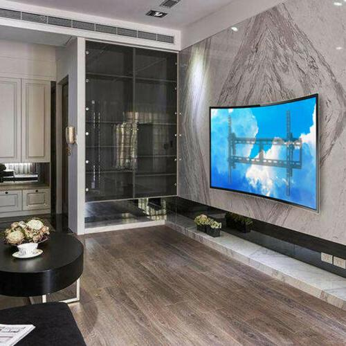 low profile fixed curved tv wall mount