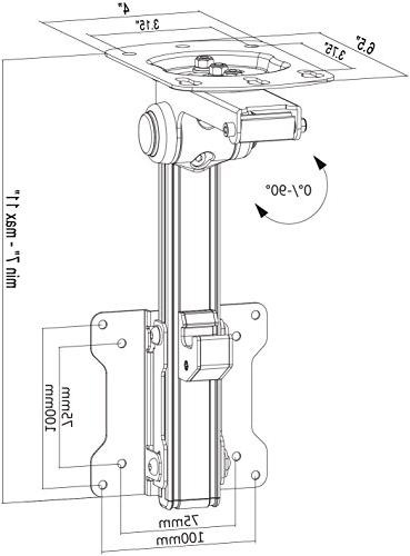 Mount Roof Ceiling Mounting for Flat TV & Monitors 13 27