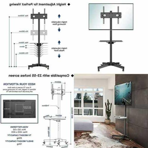 mobile tv cart floor stand mount home