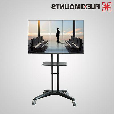 mobile tv cart stand mount