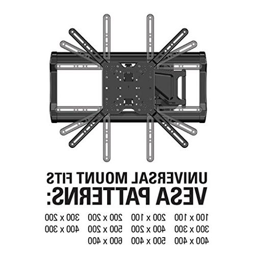 """Sanus Mount 37"""" to 80"""" Extends 18"""" & Studs to 24"""" fits Most LED, OLED, Plasma Flat Screen w/VESA up to 400 OLF18-B1"""