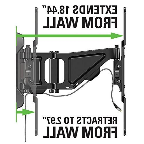 """Sanus Full-Motion TV Mount for 80"""" TVs Extends & Fits Studs to 24"""" fits OLED, Flat Screen up to 400 OLF18-B1"""