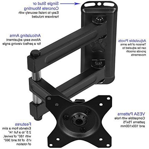 Cheetah ALAMEB Arm TV Mount Bracket up and up 40lbs, Includes Twisted Veins 10\'
