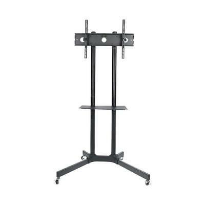 NEW HALTER ROLLING TV TROLLEY CART MOUNT WITH ADJUSTABLE SHE