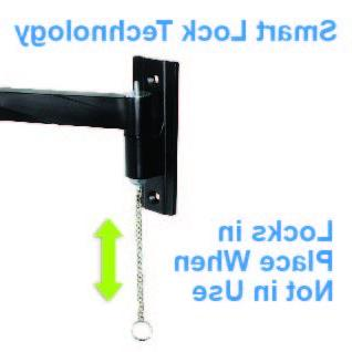 Portable Travel Mount Arm Allows TV Used in Wall & Locking Mount TV Secure up to