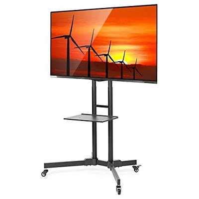TV Stand Mount Factory Rolling Cart Wheels Universal Fit Stu