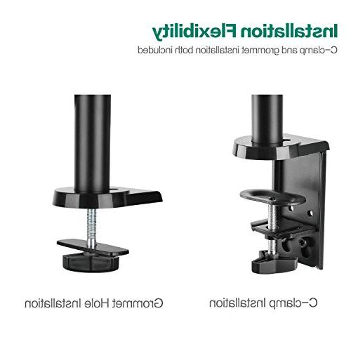 WALI LCD Monitor Mount Adjustable Spring Stand for one Screen to ,