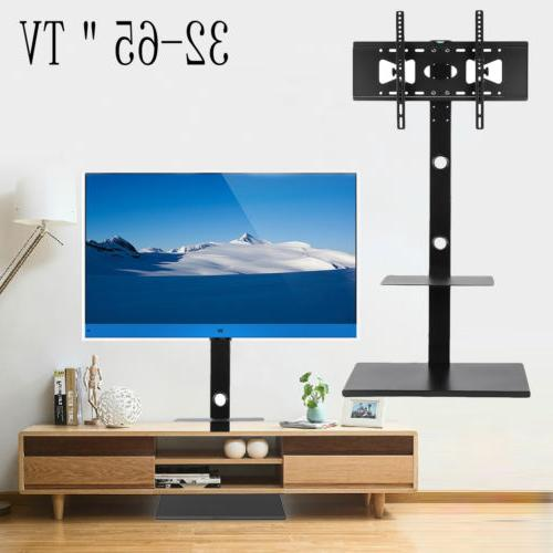 tv floor stand mount with component multilayer
