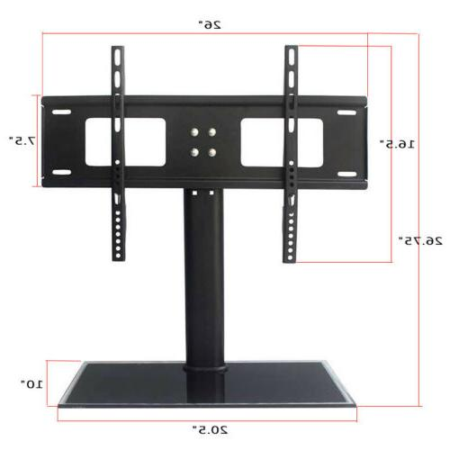 TV Stand Base Universal Swivel Mount and Height Adjustable TVs
