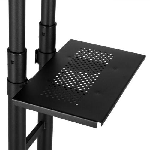 TV Mobile Mount with Storage Shelf for 46 47 50 60 65