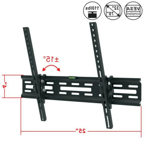 TV Bracket 15° Tilt Swivel For 32 40 42 46 50 60 65 70