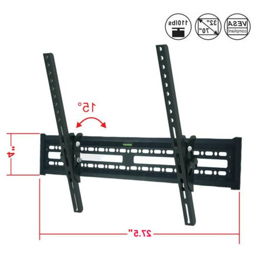 Flat Tilt TV Wall Mount 32 42 48 52 60 65 70 LED LCD for Sam