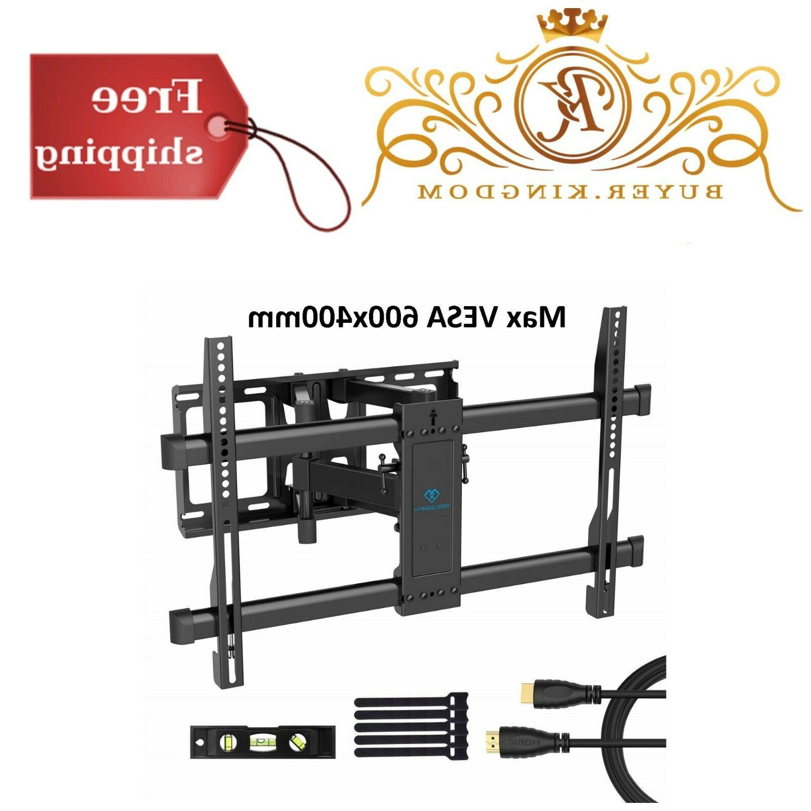 TV Wall Mount Bracket Dual Articulating 6 Arms Bears Up To 1