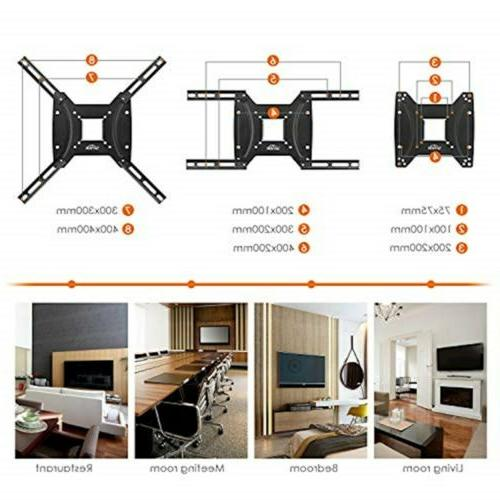 """SIMBR Wall Mount Bracket for 17-55"""" LCD, Curved,"""