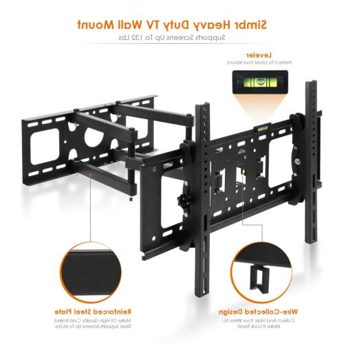 SIMBR TV Wall Mount LCD, Curved, Max