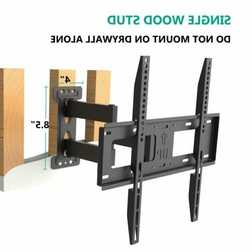 WALI TV Wall Bracket Full Extend Arm for Most 23-55