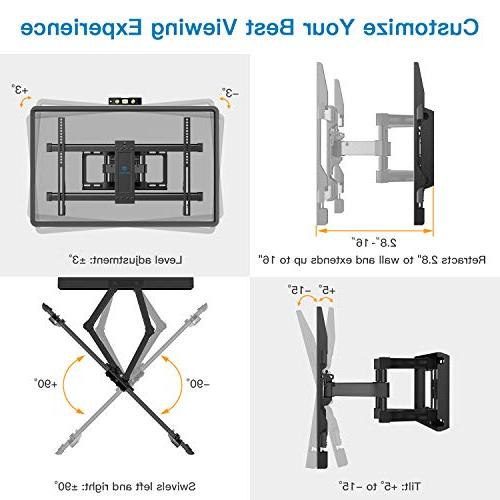 Full TV Mount 6 Arms up to 132lbs 37-70 TV Tilt, OLED Screen 600x400mm