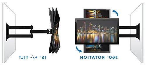 """Mount-It! Wall Mount, Universal 20, 32, 34, 37 and 40 Inch Monitors, and Swivel 14"""" Arm, 75, 100 Compatible"""