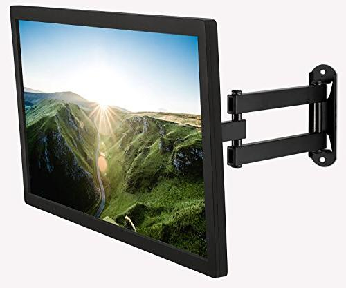 """Mount-It! Wall Mount, Universal 20, 24, Inch Monitors, Full and Swivel 14"""" Arm, Compatible"""