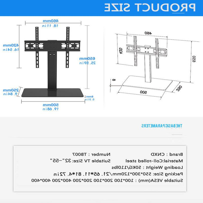 Universal TV Stand Mount For 37 42 50 55""