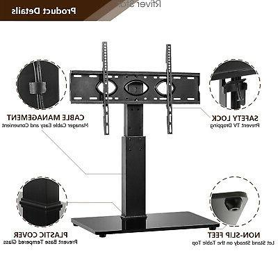 Universal Tabletop Stand Base with Swivel for 40 to 80 inch