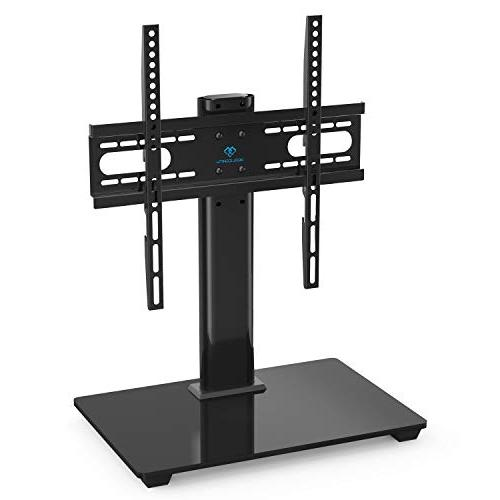 PERLESMITH Universal TV - Top Stand 37-55 LCD TVs Height Adjustable TV Stand with Tempered Base & VESA 400x400mm