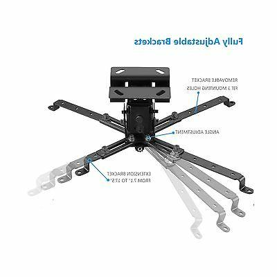 WALI Universal Projector Flat Ceiling Mount with ...