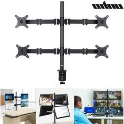 LCD Monitor Desk Mount Stand Fully Adjustable 4 Arms for Fla