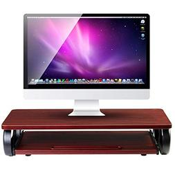 Executive Monitor Stand Computer Riser with Mouse & Keyboard