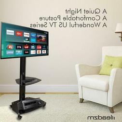 Mobile Cart TV Stand Mount Wheels Shelf For 32 36 37 42 46 4