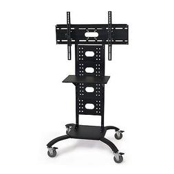 Mobile Flat Screen TV Stand Cart with Shelf and Universal Mo