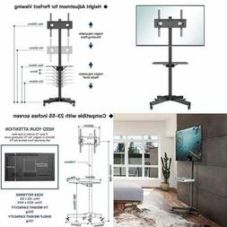 1Home Mobile TV Cart Floor Stand Mount Home Display Trolley
