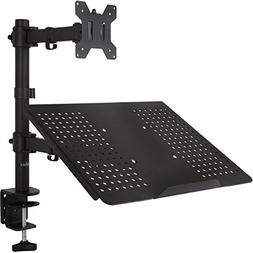 WALI Single LCD Monitor Desk Mount Fully Adjustable Stand wi