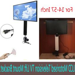 """Motorized Flat TV Lift Mount Stand 14""""~57"""" Screen 1000N With"""