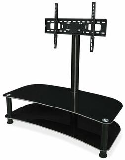 "Mount-It! Glass Shelf with TV Mount Stand Fits 32"" 40"" 50"" 5"