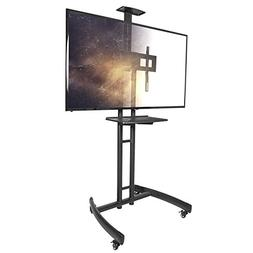 Kanto MTM55PL-S Mobile TV Mount with Adjustable Steel Tray f