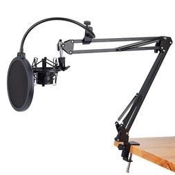 Neewer Microphone Suspension  Nb-35 with Pop Filter Kit Boom