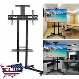 ABCCANOPY Black TV Cart Rolling Trolley Mount TV Stand w/Whe