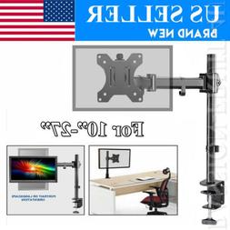 Single Arm Desk Mount LCD LED Computer Monitor Bracket Stand