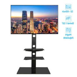 Three Layers Shelf Floor TV Stand with Swivel Mount for 32 -