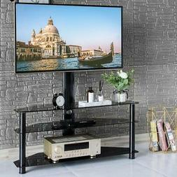 Three Layers Shelf Floor TV Stand with Swivel Mount for 32""
