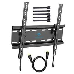 PERLESMITH Tilting TV Wall Mount Bracket Low Profile for Mos