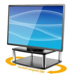 Mount-It! Turntable Stand for TV / Monitor, 2 Tier Rotating