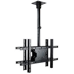VideoSecu Tilt Swivel Height Adjustable Dual TV Ceiling Moun